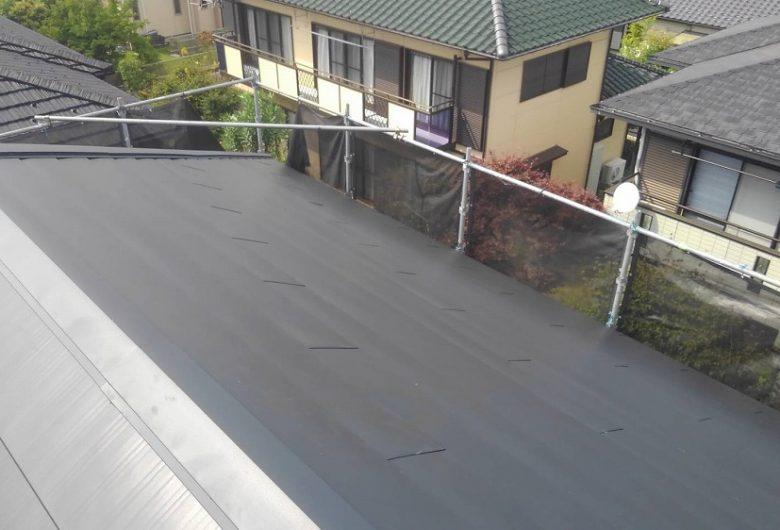 茨城県水戸市,スレート屋根カバー工事