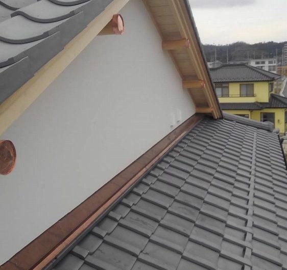 いわき市旅館新築銅板屋根工事